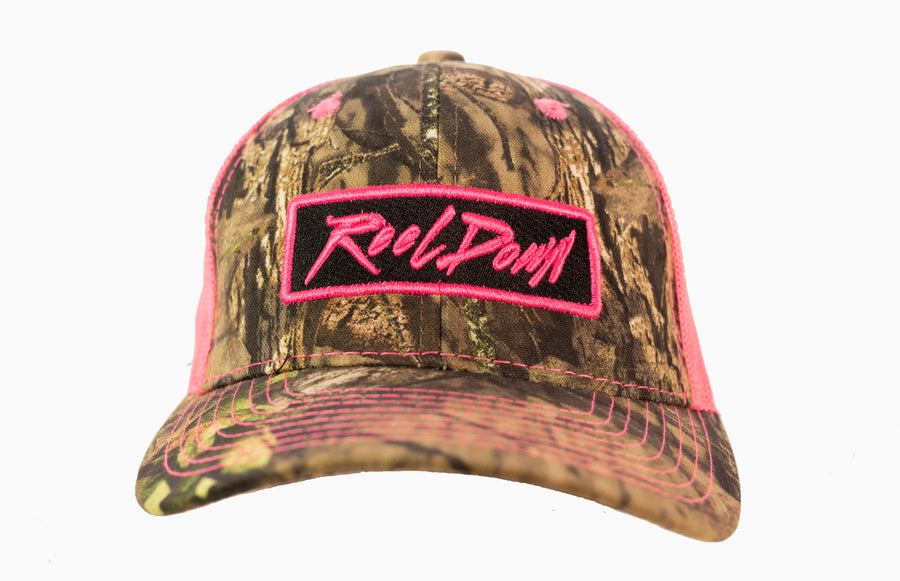 Pink Patch Camo Hat