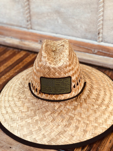 I Pledge Patch Dockside Straw Hats