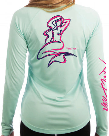 Ladies RD Mermaid Scoop Neck LS