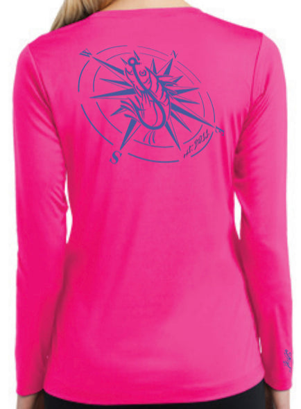 Ladies Compass V-Neck LS