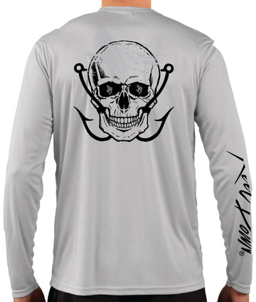 Men's Grey Skull Cross Hooks LS