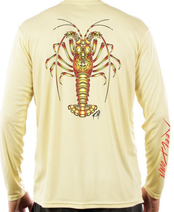 Men's LS Yellow Lobster RD Gear Shirt