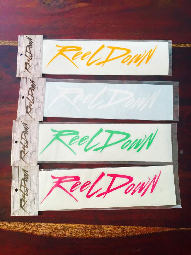 Reel Down Decals