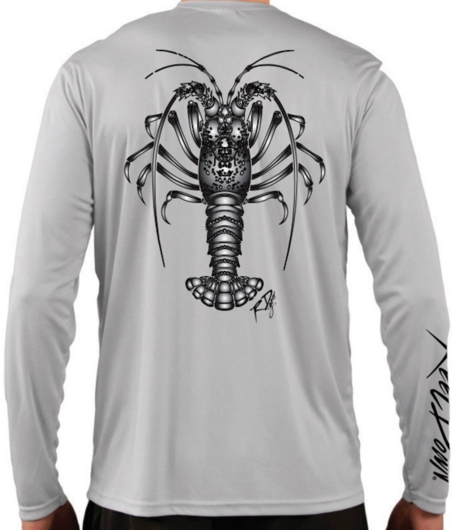 Men's LS Grey Lobster RD Gear Shirt