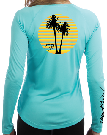 Ladies Sunset Scoop-Neck LS