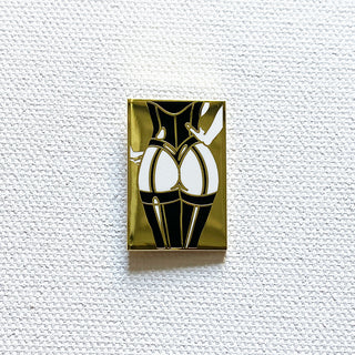 Gold Corset Pin (Back View)
