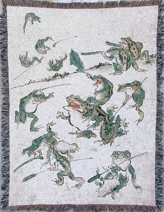 "War Of The Frogs Blanket (60"" x 80"")"