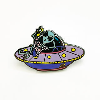 UFO Pin (If You Like Piña Coladas Variant)