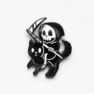 Reaper / Cat Pin (B/W Variant)