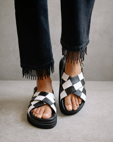 Marshmallow Scacchi Sandals
