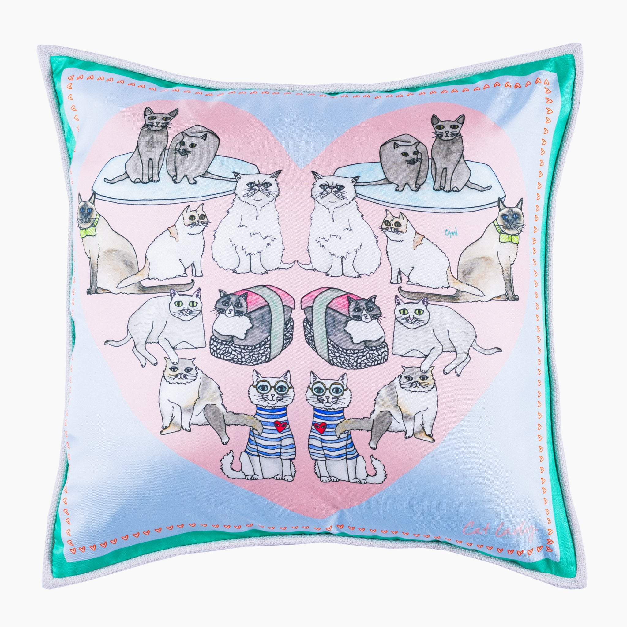 Cat Lady Cushion Mini