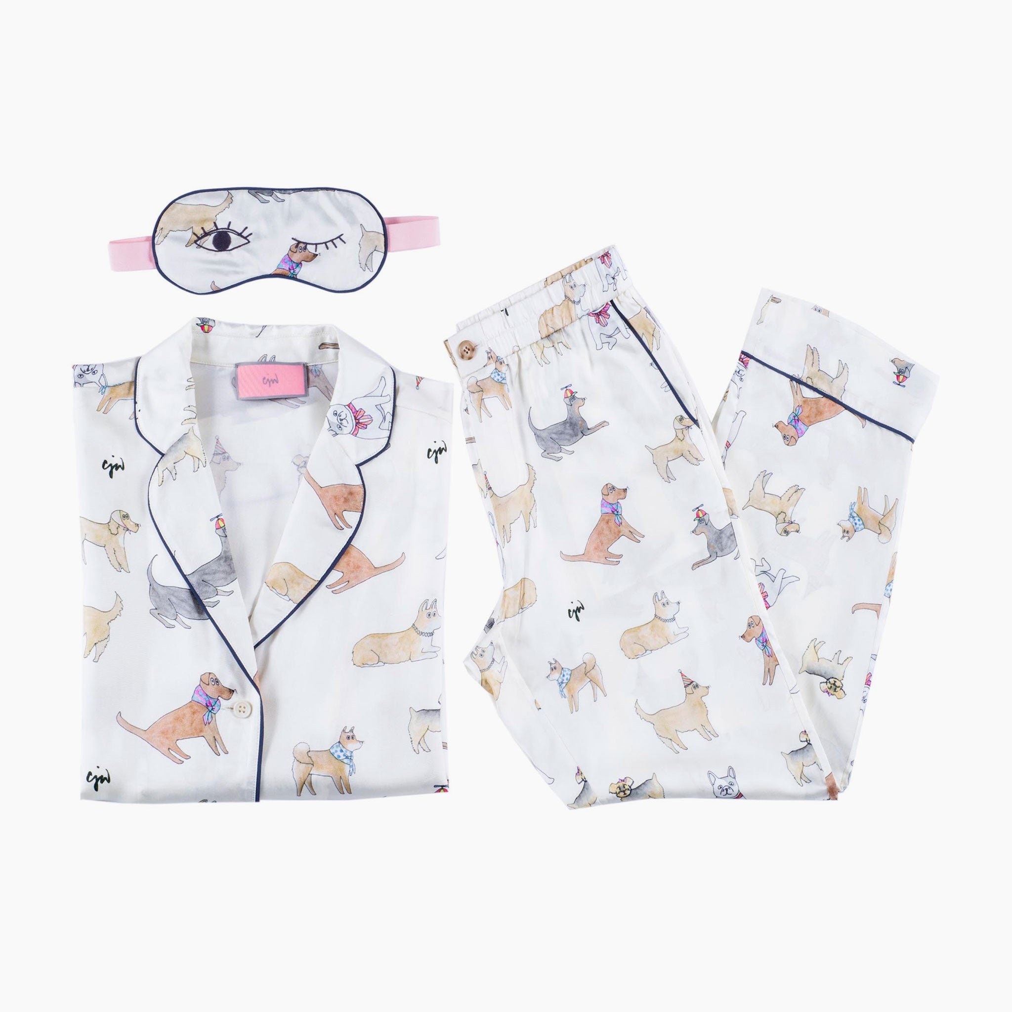 Puppy Love Pajama Set with Eye Mask (XS)