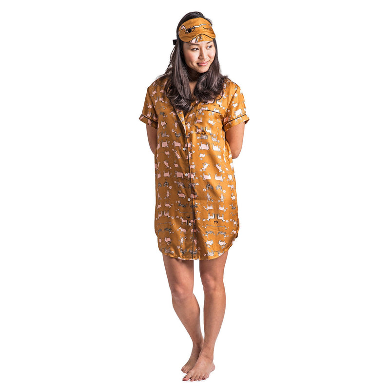 Chinese Zodiac Sleep Shirt with Eye Mask