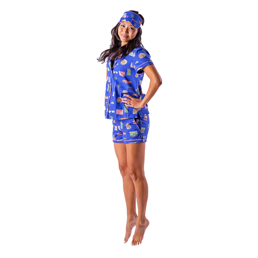 LA Pajama Set with Eye Mask
