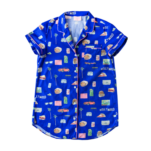 LA Pajama Shirt with Eye Mask