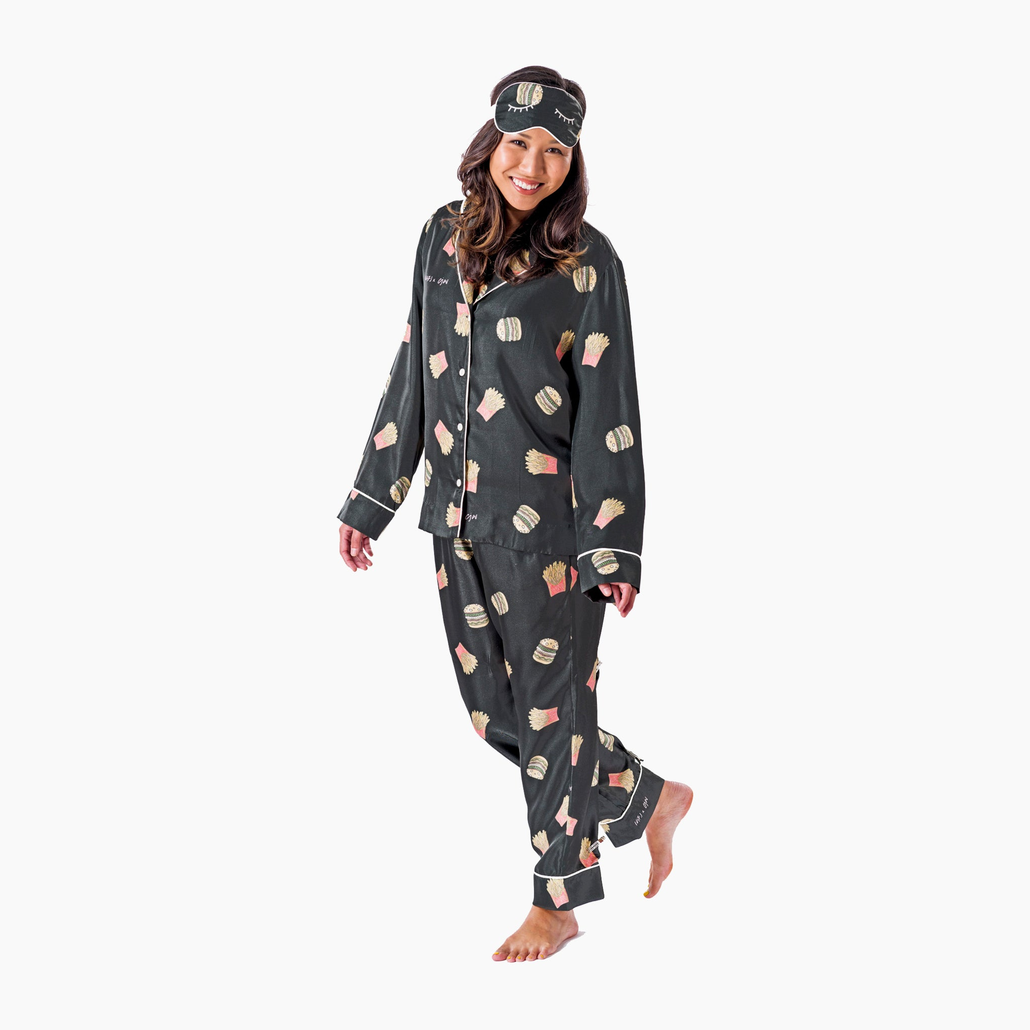 Nadine Ghosn x CJW Burger + Fries Pajama Set