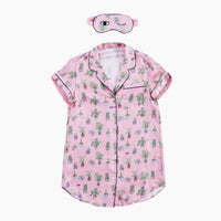 Plant Mom Sleep Shirt with Eye Mask (XS)
