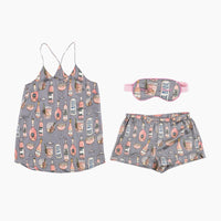 Ros̩ All Day Cami Set with Eye Mask