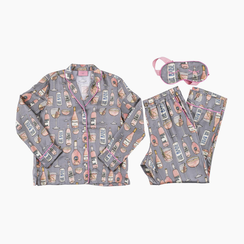 Ros̩ All Day Long Pajama Set with Eye Mask
