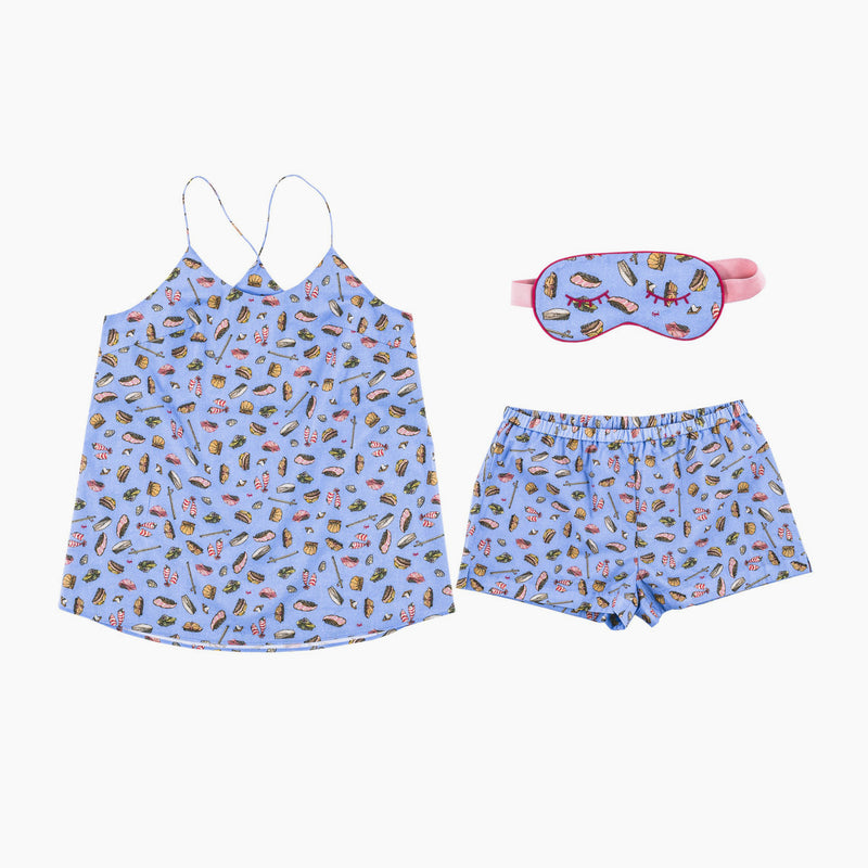 Sushi Dreams Cami Set with Eye Mask