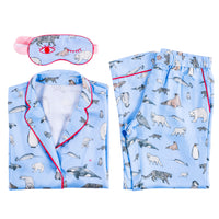 Winter Animals Pajama set with Eye Mask