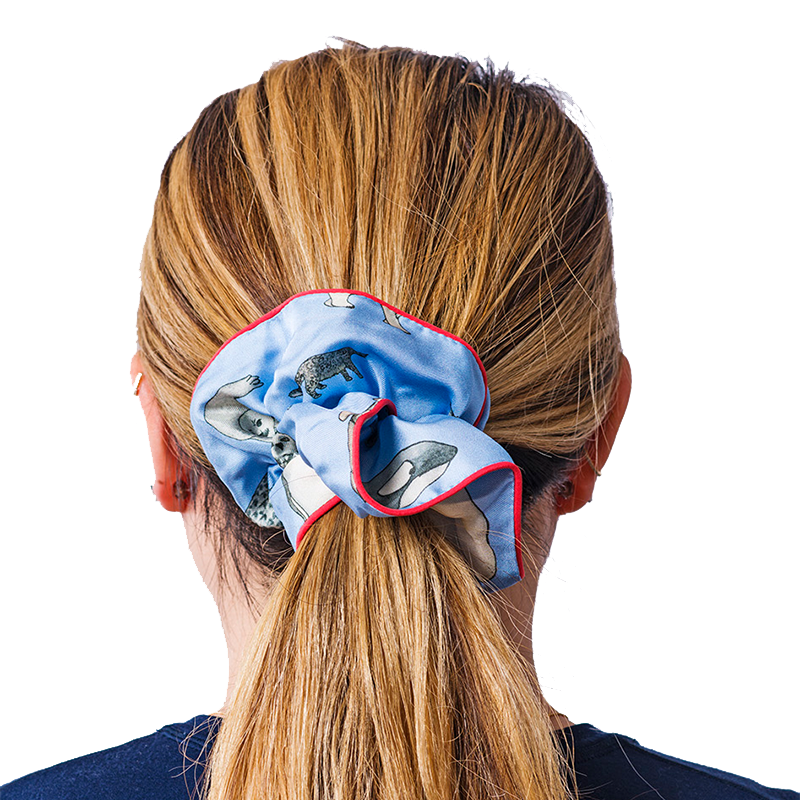 winter animals scrunchie