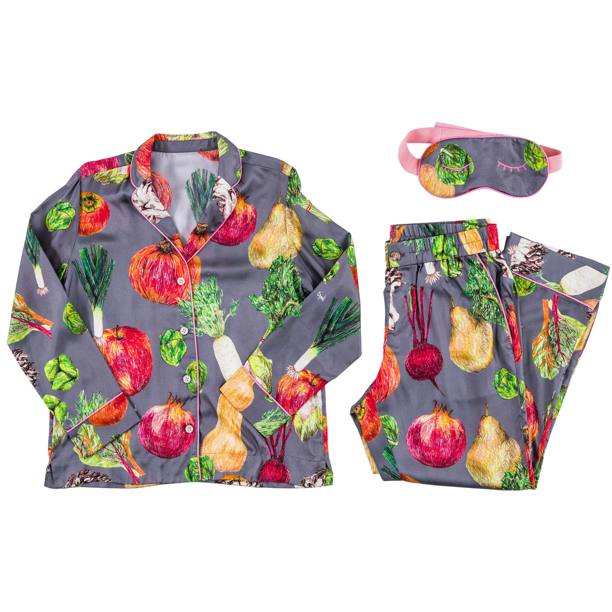 Winter Fruit and Vege Pajama Set