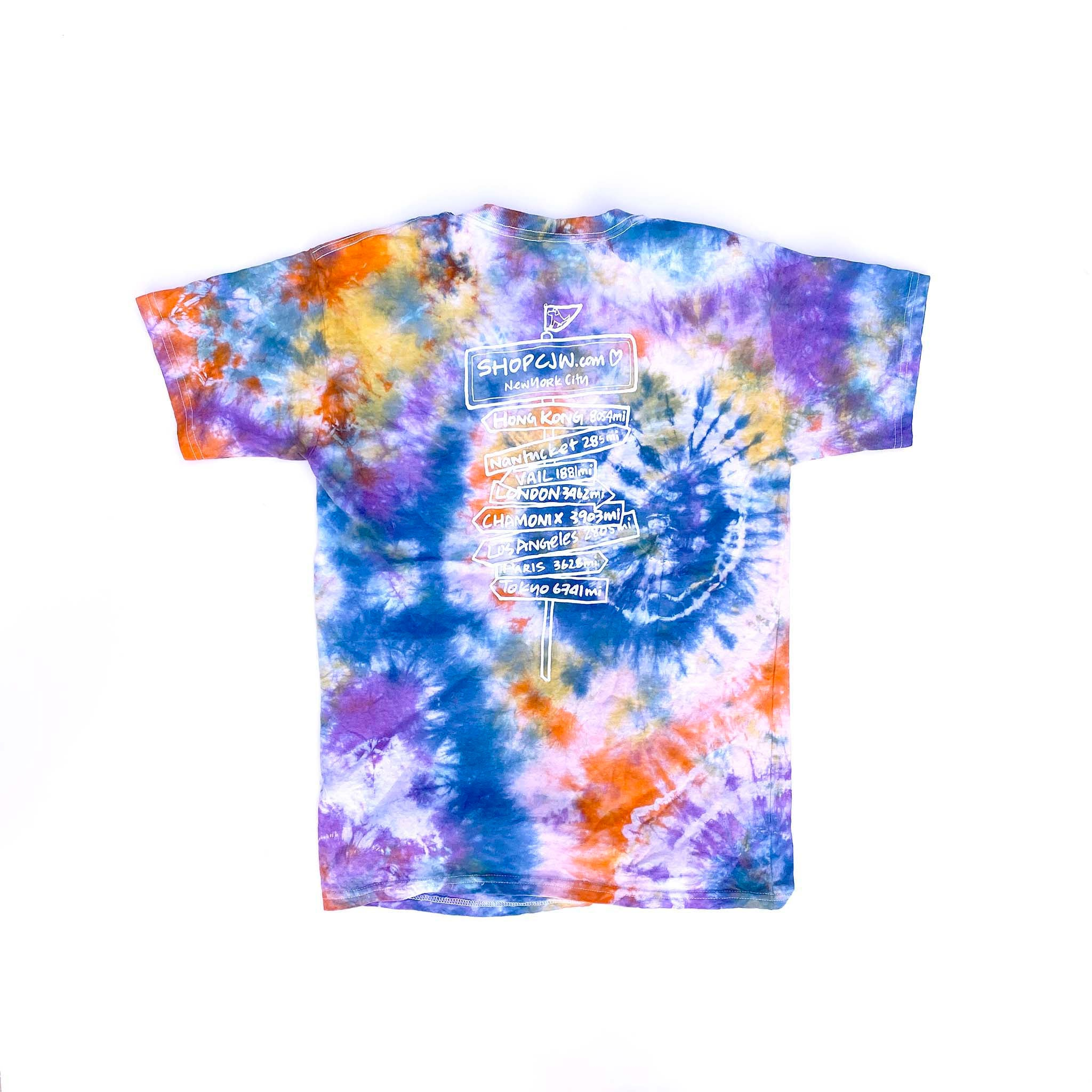 #friendsofCJW Tie-Dye tee (adult XS-1)