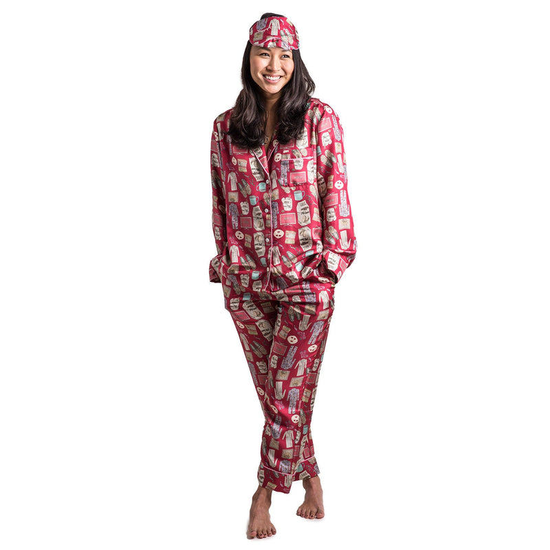 Netflix and Chill Pajama Set with Eye Mask