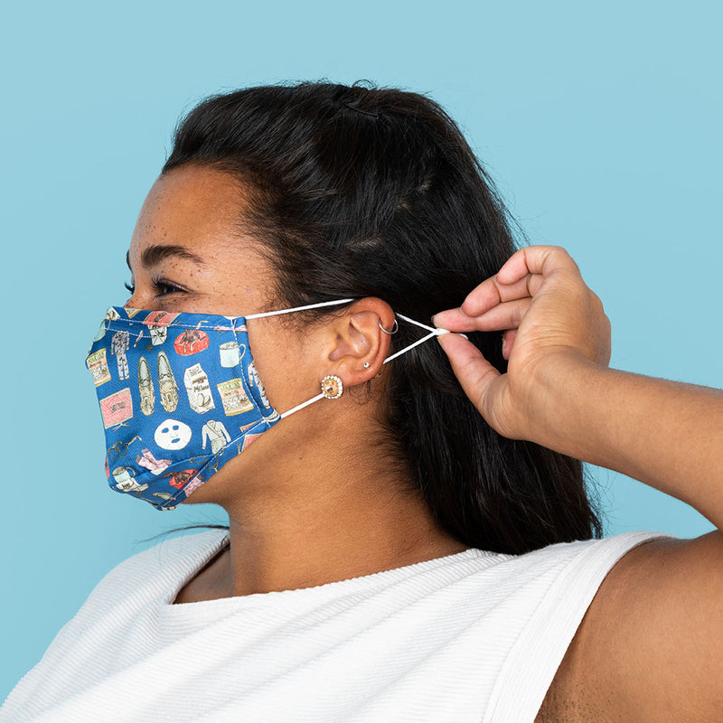 Netflix and Chill (Navy) Mask2.0