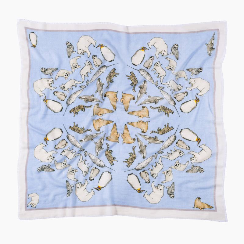 Winter Animals Scarf Mini