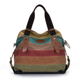 Canvas Striped Handbag