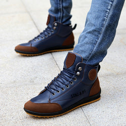 Men's Leather High Top Shoes