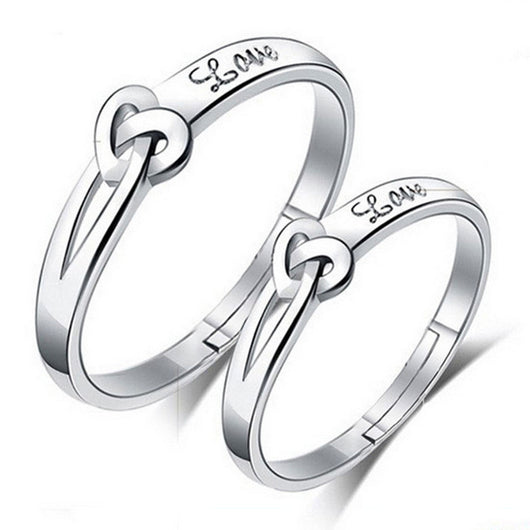Silver Heart to Heart Eternity Ring