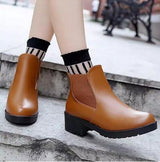 Women's Leather Slip-On Boots