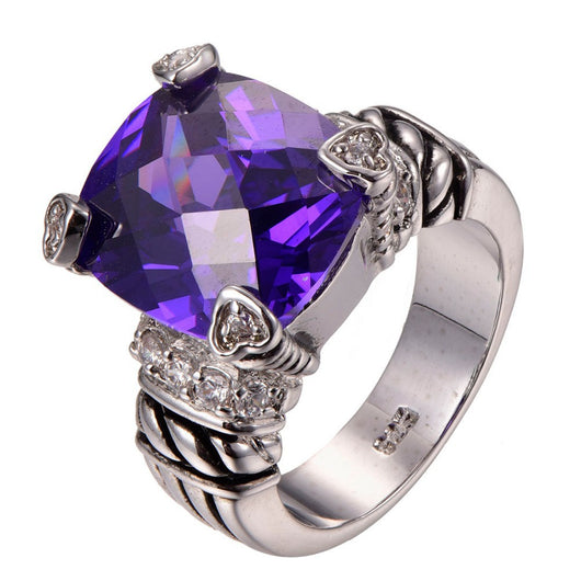 Sterling Slver Amethyst Ring