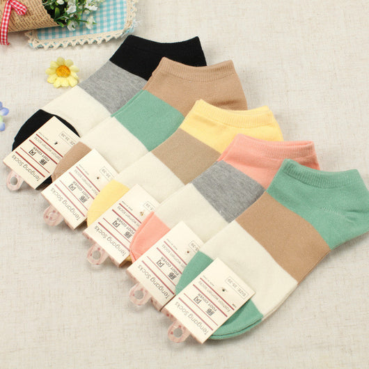 Women's 100% Cotton 5-Pair Socks