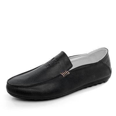 Men's Leather Slip-On Shoes