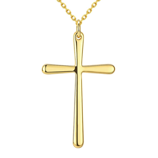 18K Gold Plated Cross Pendant Necklace