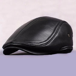 Men's Genuine Leather Flat Cap