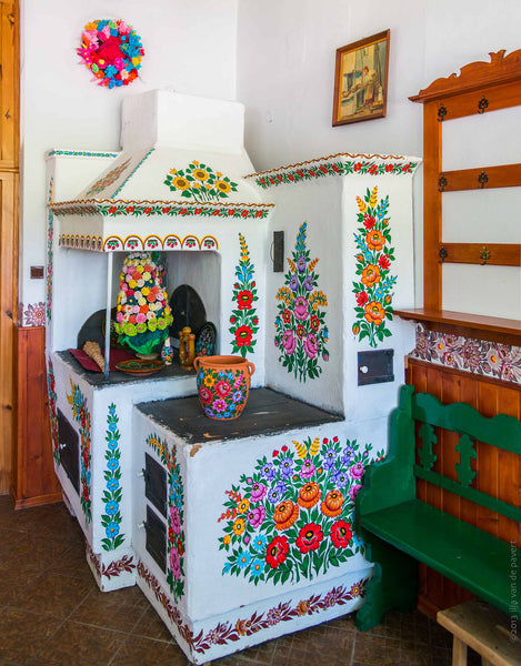 polish folk art kitchen