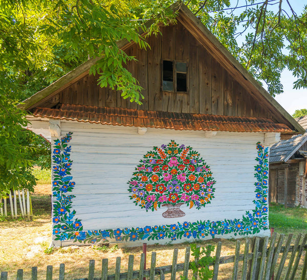 poland painted village barn