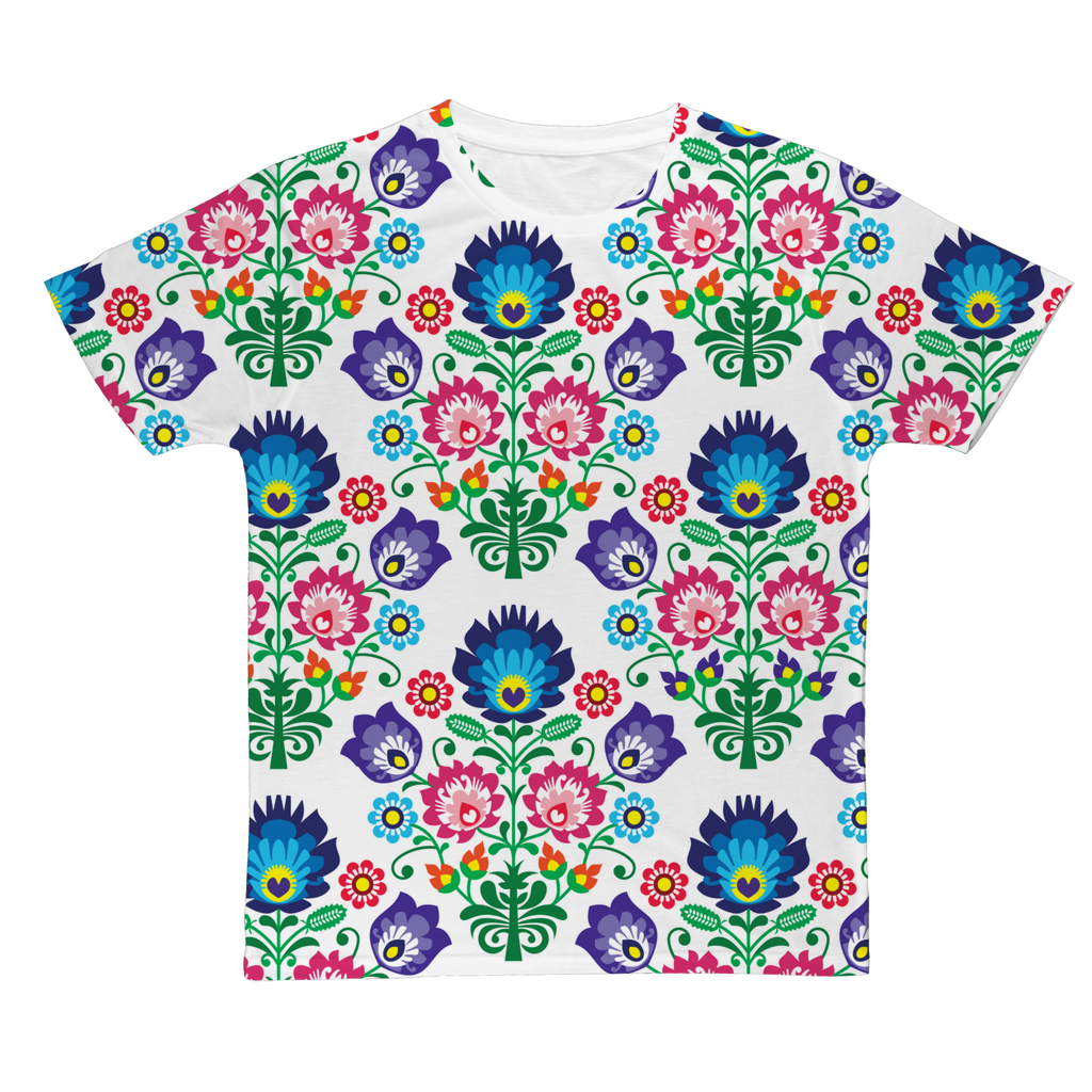 Feminine Floral Classic Sublimation Adult T-Shirt