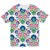 Feminine Floral Sublimation Kids T-Shirt