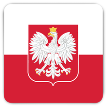 Polish Flag Rounded Fridge Magnet