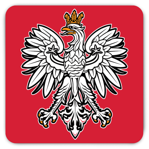 Polish Eagle Rounded Fridge Magnet - My Polish Heritage