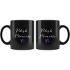 Polish Princess with Hearts Black Mug