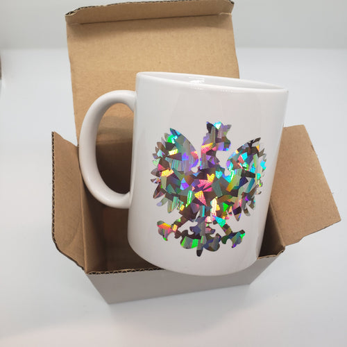 NEW! Holographic Polish Eagle 11oz Mug. Ready to Ship.