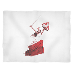 Polish Woman Warrior Fleece Blanket