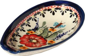 Polish Pottery Spoon Rest- Signature Pattern